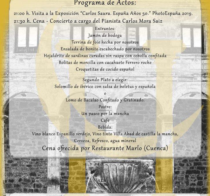 Cena concierto el día 3 de agosto en el convento de Jesús y María