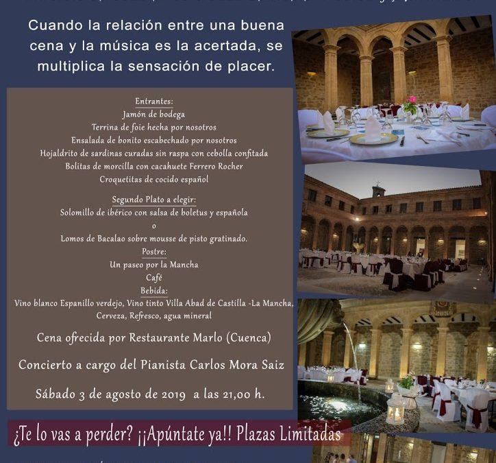 Cena concierto en el claustro del convento de Jesús y María