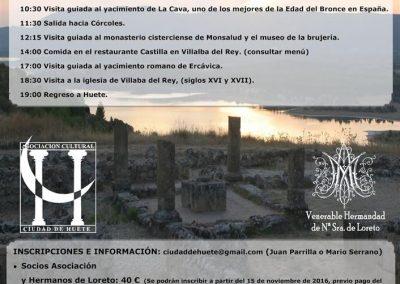 Viaje a la Alcarria (Garcinarro, Monsalud, Ercávica y Villalba del Rey) – 2016